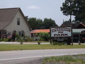 Speedway RV Park sign